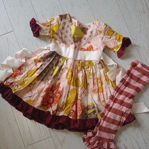 Persnickety Tea Party Dress & leggings